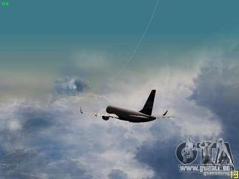 Embraer ERJ 190 USAirways für GTA San Andreas Unteransicht