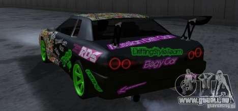 New Elegy DriftingStyleTeam pour GTA San Andreas vue arrière