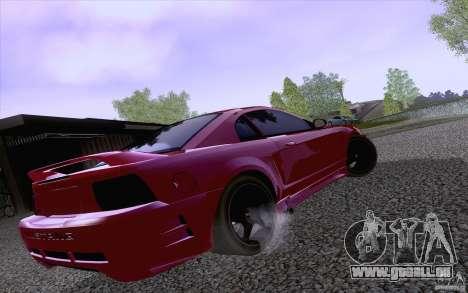 Ford Mustang SVT Cobra 2003 Black wheels pour GTA San Andreas sur la vue arrière gauche