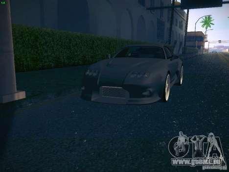 Toyota Supra VeilSide Fortune 2003 pour GTA San Andreas vue de dessus