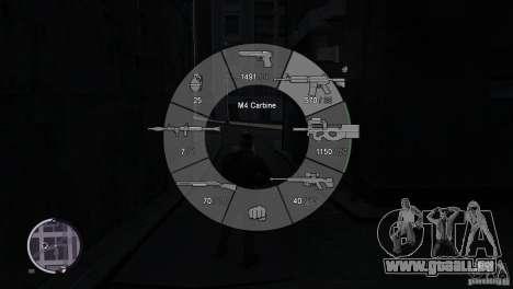 GTA 5 Weapon Wheel HUD für GTA 4