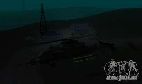 RQ-50 Hammerhead pour GTA San Andreas vue arrière