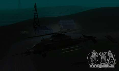 RQ-50 Hammerhead für GTA San Andreas Rückansicht
