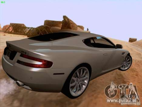 Aston Martin DB9 pour GTA San Andreas vue de dessus