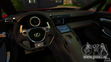 Lexus LFA 2012 Nurburgring Edition pour GTA 4 Vue arrière