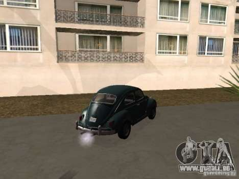 Volkswagen Beetle pour GTA San Andreas laissé vue