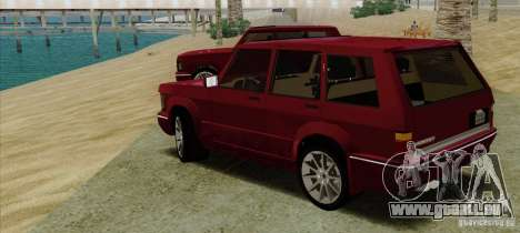 Huntley Freelander pour GTA San Andreas laissé vue