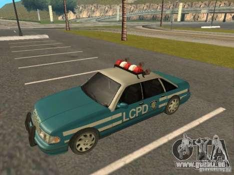 HD Police from GTA 3 für GTA San Andreas rechten Ansicht