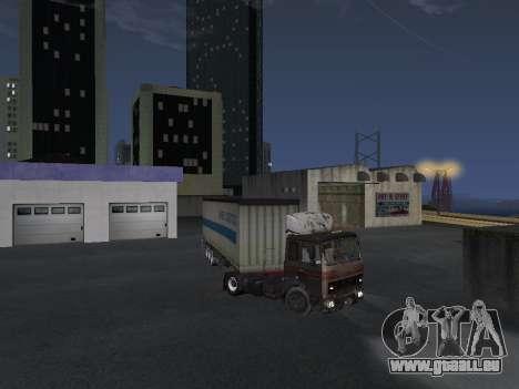 Remorque Schmitz pour GTA San Andreas vue de droite