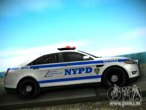 Ford Taurus NYPD 2011 für GTA San Andreas Rückansicht