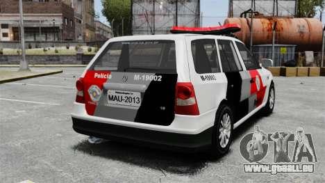Volkswagen Parati G4 PMESP ELS pour GTA 4 Vue arrière de la gauche