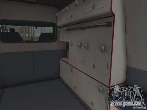 Ford Transit Ambulance pour GTA San Andreas vue intérieure