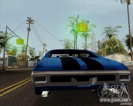 Chevrolet Chevelle SS pour GTA San Andreas vue arrière