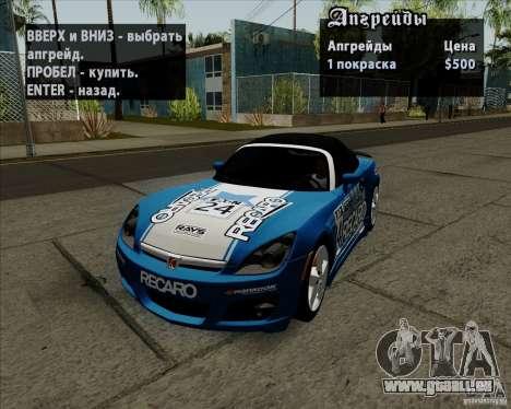 Saturn Sky Red Line 2007 v1.0 für GTA San Andreas rechten Ansicht