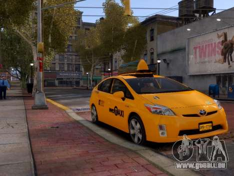 Toyota Prius NYC Taxi 2013 für GTA 4 linke Ansicht