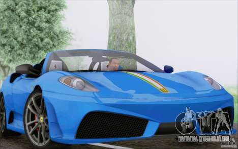 Ferrari F430 Scuderia Spider 16M für GTA San Andreas obere Ansicht