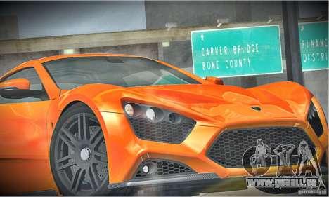 Zenvo ST1 2010 pour GTA San Andreas vue de côté