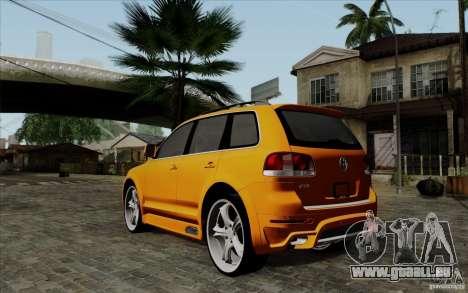 Volkswagen Touareg R50 Light pour GTA San Andreas sur la vue arrière gauche