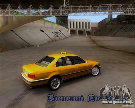 BMW 730i E38 1996 Taxi für GTA San Andreas obere Ansicht