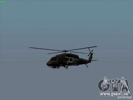 S-70 Battlehawk pour GTA San Andreas vue de côté