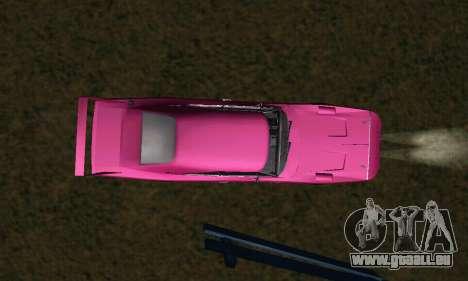 Dodge Charger Daytona SRT10 pour GTA San Andreas vue de dessus
