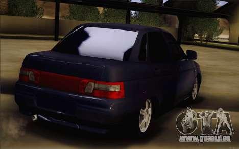 VAZ 2110 Drain pour GTA San Andreas sur la vue arrière gauche