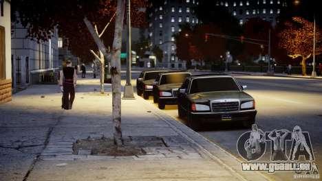 Mercedes-Benz 560 SEL Black Edition pour GTA 4 est un côté
