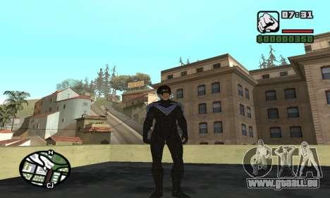 Nightwing skin pour GTA San Andreas troisième écran