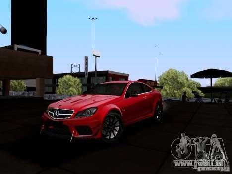 Mercedes-Benz C63 AMG 2012 Black Series für GTA San Andreas linke Ansicht