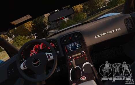 Chevrolet Corvette ZR1 pour GTA 4 Vue arrière de la gauche