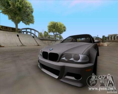 BMW 3-er E46 Dope pour GTA San Andreas sur la vue arrière gauche