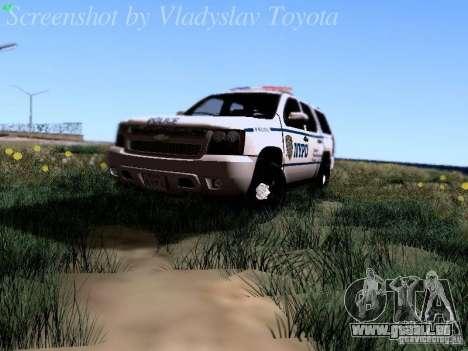 Chevrolet Tahoe 2007 NYPD für GTA San Andreas