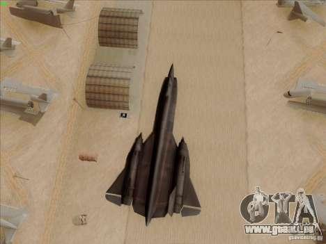 YF-12A für GTA San Andreas obere Ansicht