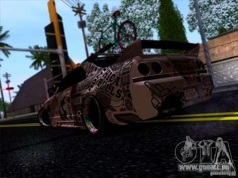 Nissan GT-R R33 HellaFlush pour GTA San Andreas vue de droite