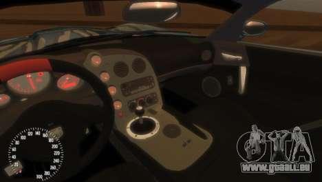 Dodge Viper SRT-10 Mopar Drift pour GTA 4 est une vue de l'intérieur