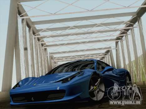 Ferrari 458 Italia 2010 pour GTA San Andreas