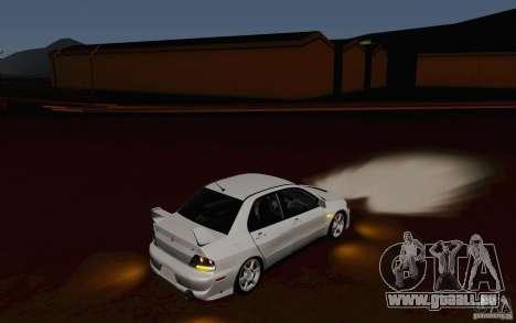 Mitsubishi Lancer Evo VIII GSR für GTA San Andreas obere Ansicht