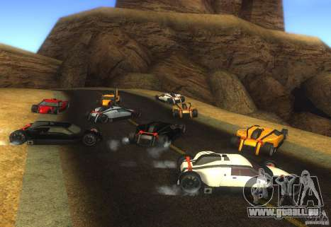 Garde pour GTA San Andreas sur la vue arrière gauche