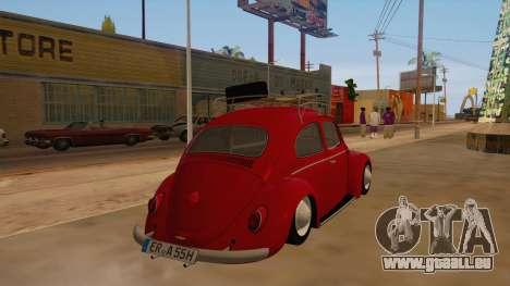 VW Beetle 1966 pour GTA San Andreas vue de droite
