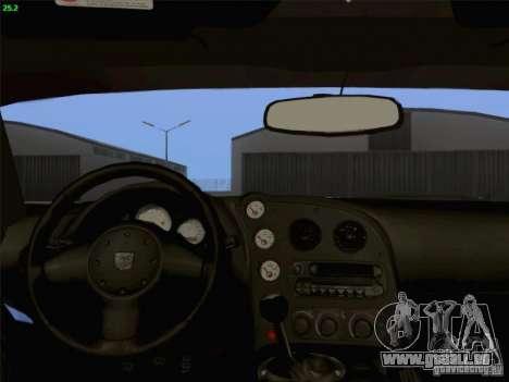 Dodge Viper GTS-R Concept pour GTA San Andreas vue de dessus