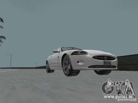 Jaguar XK pour GTA San Andreas vue de droite