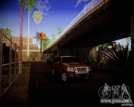 Ford Explorer pour GTA San Andreas sur la vue arrière gauche