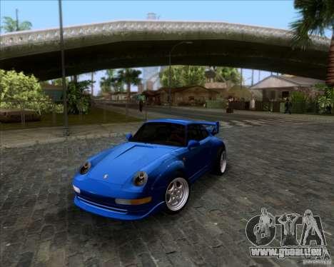 Porsche 911 GT2 RWB Dubai SIG EDTN 1995 pour GTA San Andreas vue de dessus