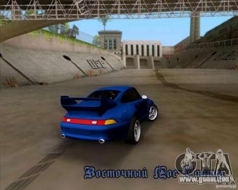 Porsche 911 GT2 RWB Dubai SIG EDTN 1995 pour GTA San Andreas vue de dessous