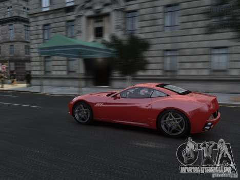 Ferrari California 2009 pour GTA 4 est une vue de l'intérieur