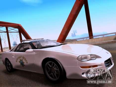 Chevrolet Camaro 2002 California Highway Patrol pour GTA San Andreas vue de droite