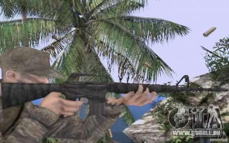 M16A1 Vietnam war pour GTA San Andreas troisième écran