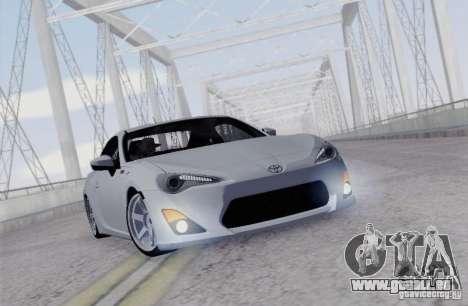 Toyota GT86 pour GTA San Andreas vue arrière