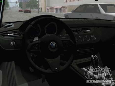 BMW Z4 2011 für GTA San Andreas rechten Ansicht