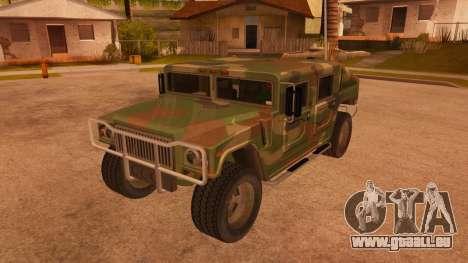 HD Patriot pour GTA San Andreas vue de côté